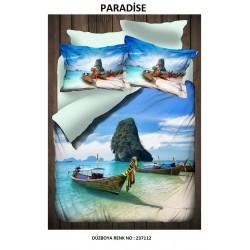 Lenjerie Dubla Digital Paradise+set 2 prosoape 50x60