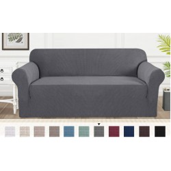 Husa canapea 3 locuri gri