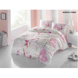 LENJERIE BUMBAC 3 PIESE SERENAY PINK