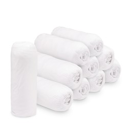 Cearceaf cu elastic jersey 180x200 alb,bax 10 buc