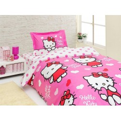 Lenjerie Hello Kitty Miss Love+Cearceaf Hello Kitty+1 fata perna